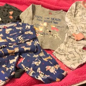 4 carters long sleeve, pant pjs